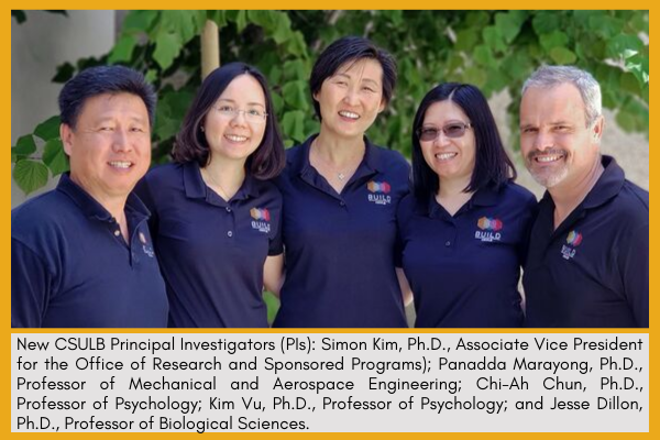 Five CSULB BUILD Principal Investigators