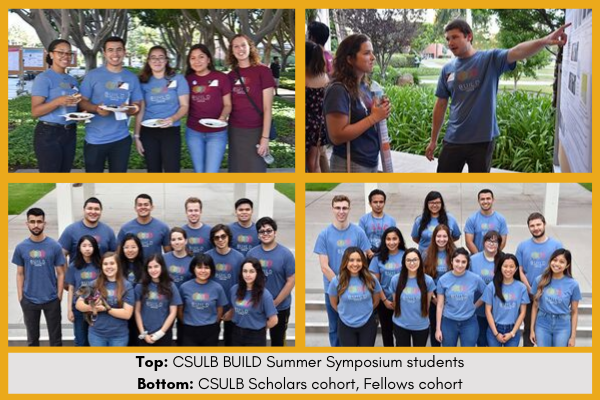 Collage of CSULB BUILD students participating in the Summer program