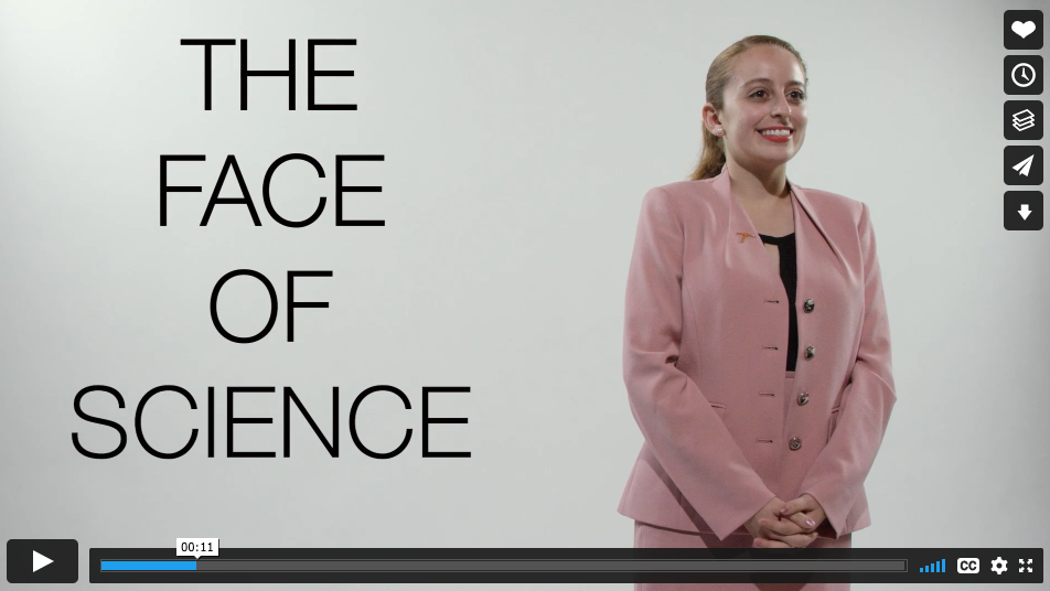 The Face of Science video click to watch